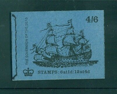 Great Britain 4s6d Sovereign of the Seas Ship August 1970 Booklet LP58