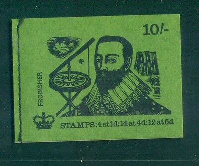 Great Britain 10s Frobisher FEB 1970 Booklet XP11