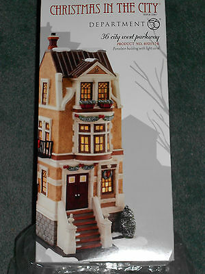 Dept 56 Christmas In The City 36 City West Parkway Nib