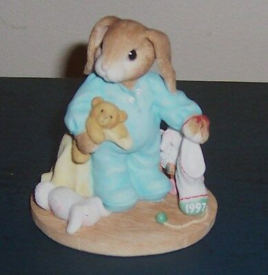 My Blushing Bunnies 1997 Enesco You're Some Bunny Warm And Cuddly Figurine