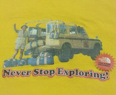 Vintage North Face shirt - Never Stop Exploring - MEDIUM
