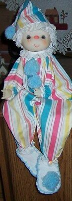 """Adorable vintage 22"""" Clown Doll with Sand Body."""