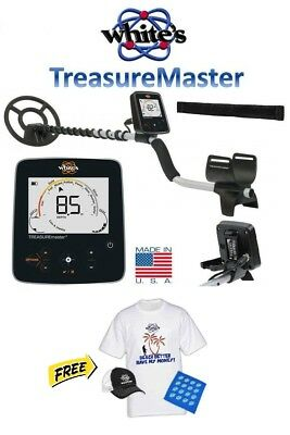 """WHITES TREASUREMASTER Metal Detector With 9"""" WATERPROOF COIL Coins Jewelry Beach"""