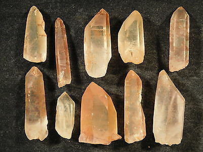 A Big Lot of Small 100% Natural Quartz Crystals with Hematite Brazil 62.9gr