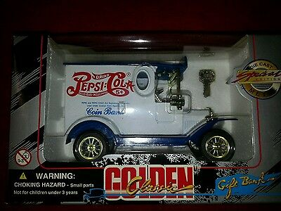 Pepsi cola golden classic toy bank