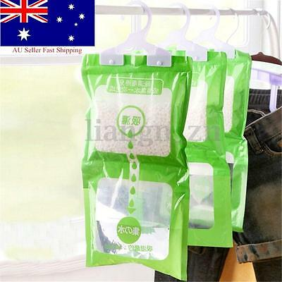3X Interior Dehumidifier Desiccant Damp Storage Hanging Dry Bags Rooms Wardrobe
