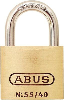 ABUS 55/40 B KD 1.5-Inch Solid Brass Padlock with Hardened Steel Shackle