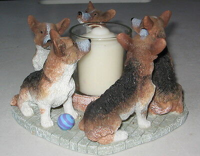 Pembrook Welsh Corgi Circle Of Dogs Candle Holder