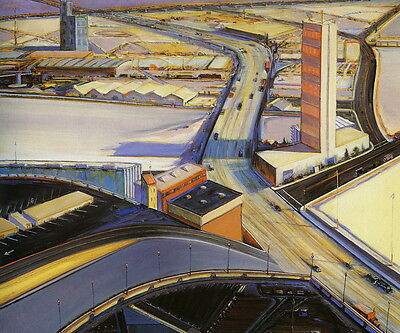 Wayne Thiebaud Landscape Giclee Canvas Print Paintings Poster Reproduction Copy