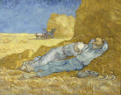 Vincent Van Gogh The siesta after Millet Giclee Canvas Print Paintings Poster Re