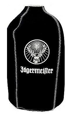 Jagermeister Black Stay Cool Koozie Liquor Cooler Jager Bottle Coozie 750ml - 1L
