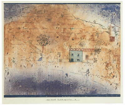 Paul Klee Bay M. on Sicily Giclee Canvas Print Paintings Poster Reproduction Cop