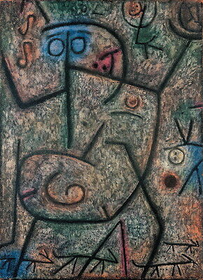 Paul Klee Oh!These Rumors! Giclee Canvas Print Paintings Poster Reproduction Cop