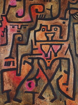 Paul Klee Forest Witches Giclee Canvas Print Paintings Poster Reproduction Copy