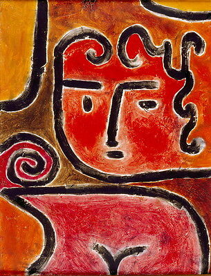 Paul Klee Hot-Blooded Girl Giclee Canvas Print Paintings Poster Reproduction Cop