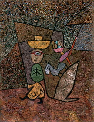 Paul Klee Traveling Circus Giclee Canvas Print Paintings Poster Reproduction Cop