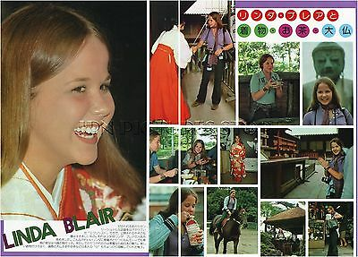 LINDA BLAIR in Japan 1974 JPN PICTURE CLIPPINGS 2-Sheets THE EXORCIST #ME/Q