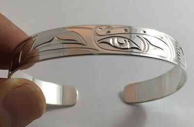 Northwest Coast First Nations Jewellery- Sterling Silver RAVEN Bracelet