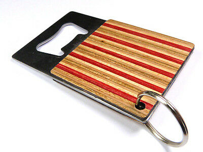 RECYCLED SKATEBOARD Wooden Guitar Keyring Guitarist Cool Unusual Unique Gifts