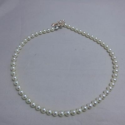 OFF BRAND Japanese Cultured Akoya Pearl Strand Necklace 7~7.5MM 18.5inches  #2