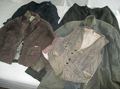 lot veste, pantalon, manteau laine ancien de ville .