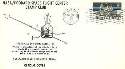 Sss Small Scientific Satellite, San Marco Range Mombasa Kenya, Goddard 11/15/71