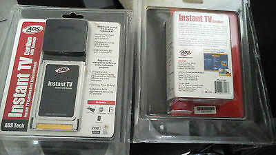 ADS tech instant tv-carte Dual DVB-t Digital + Analogique Câble pcmcia CardBus