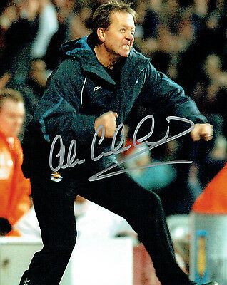 Alan CURBISHLEY Signed Autograph 10x8 Photo AFTAL COA Football Manager