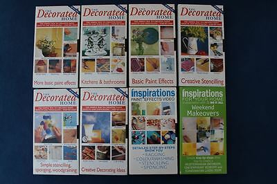 Eight Paint Effects Instruction VHS Videos from Decorated Home Mag  - VG Condit