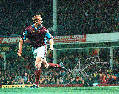 John HARTSON West Ham United Legend SIGNED Autograph 10x8 Photo AFTAL COA