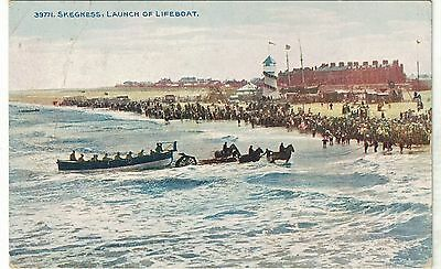 Postcard Launch of the Lifeboat Skegness 1914
