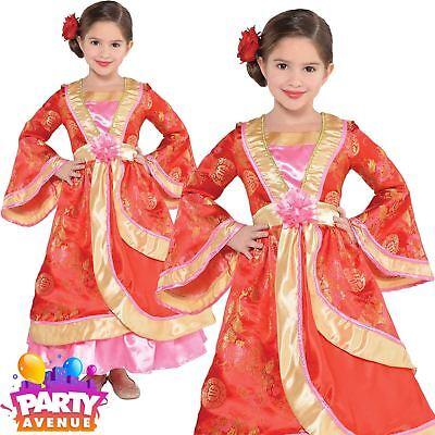 Child Girl Oriental Princess Costume Chinese Japanese Fancy Dress 3-5yrs