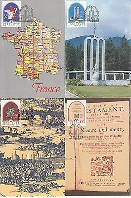 French Huguenots South Africa 4 maximum cards Map Bible Monument descent