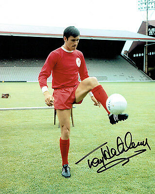 Tony HATELEY Liverpool FC Legend 10x8 Signed Photo AFTAL COA Autograph