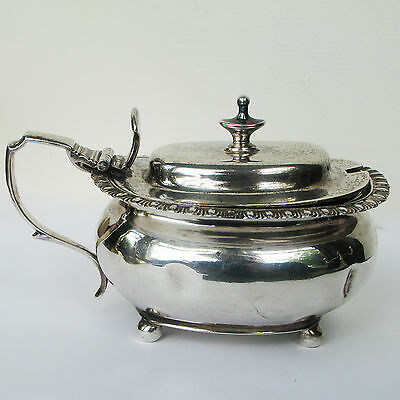 Georgian Sterling Silver Mustard Pot with liner London 1798