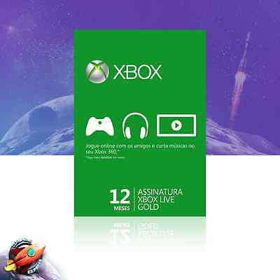Xbox LIVE 12 Month Gold Membership For Microsoft Xbox One Xbox 360