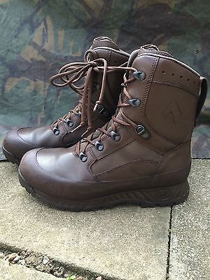 Genuine British Army Brown leather Haix combat boots
