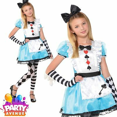 Girls World Book Day Alice In Wonderland Costume Childrens Fancy Dress Outfit