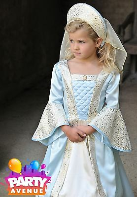 Deluxe Tudor Princess Costume Girls Historical Fancy Dress Book Day