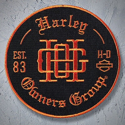 Genuine HARLEY DAVIDSON 4 inch HOG EMBROIDERED PATCHES Monogram Patch