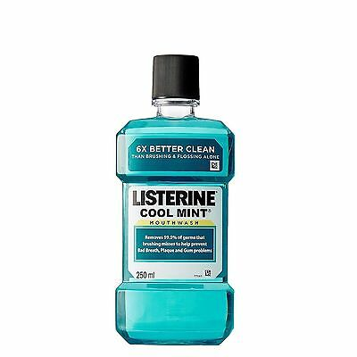 1x Listerine Cool Mint Mouthwash Mouth Wash 250ml (8.4 Oz) For Bad Breath Plaque