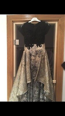 Asian/indian Wedding Outfit Black And Gold Size 8