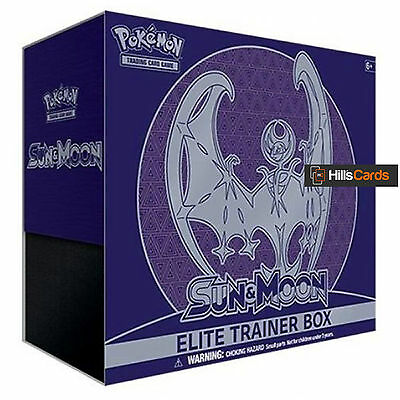 Pokemon Sun & Moon Elite Trainer Box - Lunala - Booster Packs + Energy Cards