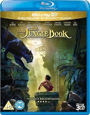 THE JUNGLE BOOK (2016) 3D + Blu ray + 3D SEALED/NEW Bluray 3 D Film/movie remake