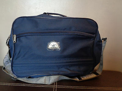 Beverly Hills Polo Club Horse Sachet Bag Strap zip up smart Navy Blue