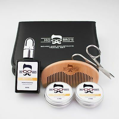 Mo Bro's Beard & Moustache Grooming 6 Piece Travel Set