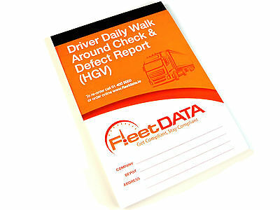 Driver Daily Walk Around Check Book (HGV)