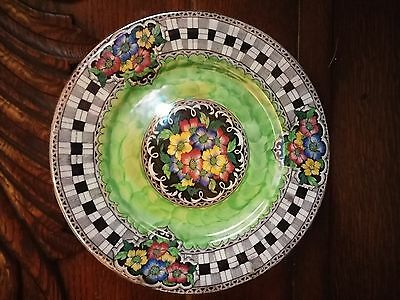Antique Maling Newcastle Tyne England Lustre Floral Plate Dinnerware