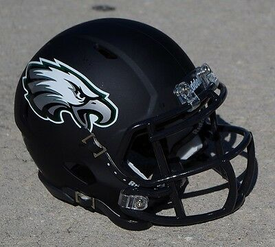 PHILADELPHIA EAGLES BLACK MATTE SPEED CONCEPT mini football helmet