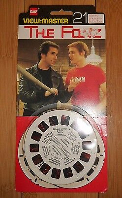 Vintage The Fonz 1978 Gaf View Master Reels Original Rare Bj 013 Happy Days